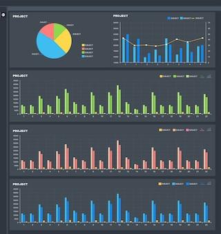 Modèle de panneau utilisateur de statistiques