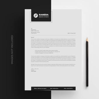 Modèle de papier à en-tête d'entreprise moderne propre