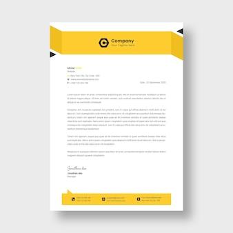 Modèle de papier à en-tête d'entreprise moderne