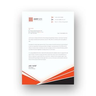Modèle de papier à en-tête orange créatif