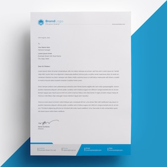 Modèle de papier à en-tête de société psd premium