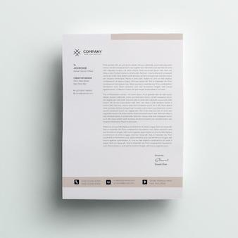 Modèle de papier à en-tête