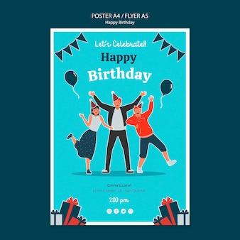 Modèle de pflyer de célébration d'anniversaire