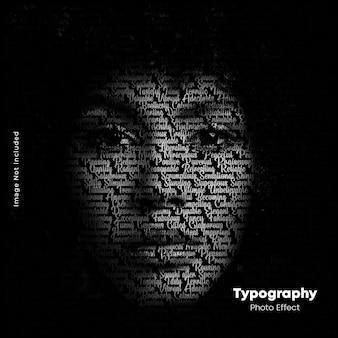 Modèle de photo de portrait de typographie