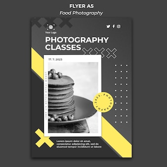 Modèle de photographie alimentaire flyer