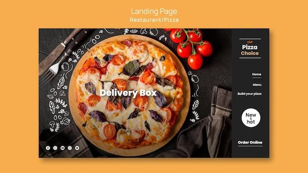 Modèle de pizzeria de page de destination