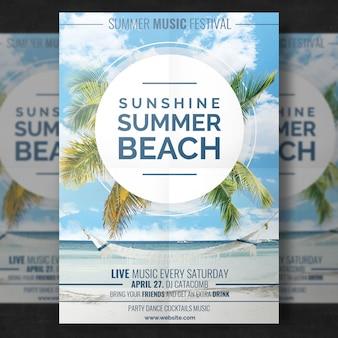 Modèle de plage d'été