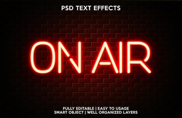 Modèle de police de texte avec effet de texte sur l'air