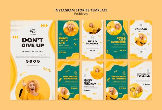 Modèle de positivisme pour les histoires instagram