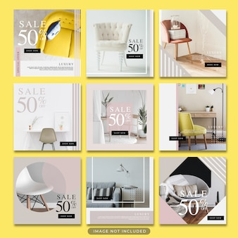 Modèle de poste instagram post vente de meubles minimaliste psd