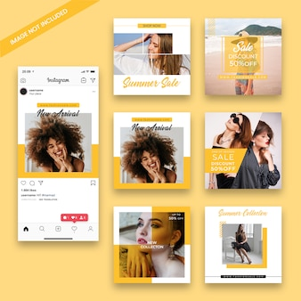 Modèle de poste instagram de vente de mode