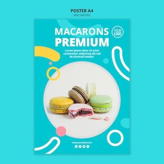 Modèle postrer premium macarons