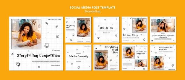 Modèle de posts instagram de communauté de narration