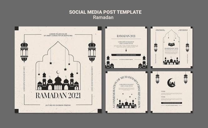 Modèle de posts instagram événement ramadan
