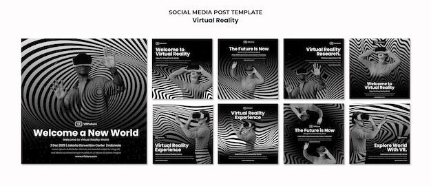 Modèle de posts instagram de réalité virtuelle