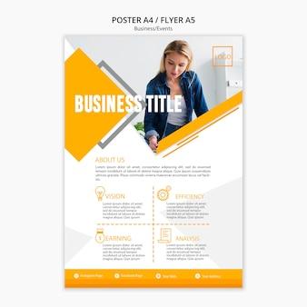 Modèle de présentation de l'affiche de l'entreprise