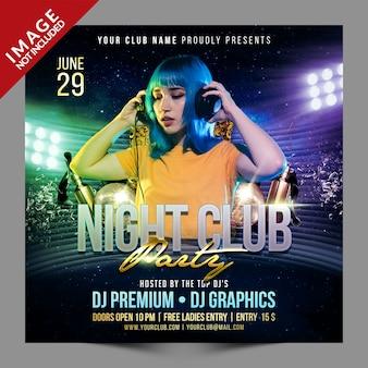Modèle de promotion de médias sociaux psd night club party