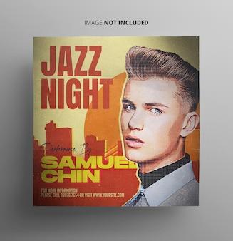 Modèle de promotion de musique de concert de jazz