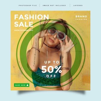 Modèle de promotion de publication de flux de médias sociaux de mode