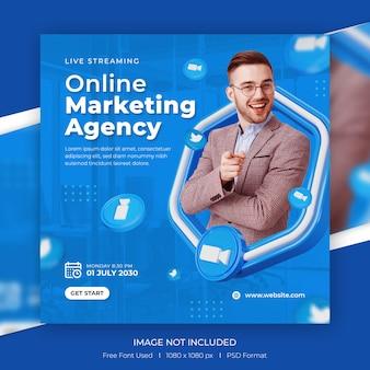 Modèle de promotion de publication instagram de médias sociaux de banne de marketing numérique de concept créatif
