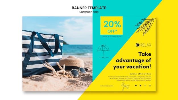 Modèle de promotion de vente d'été