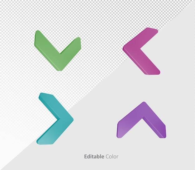 Modèle psd 3d arrow bundle pack avec couleur modifiable