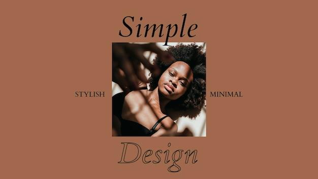 Modèle psd de bannière sociale de mode élégante avec un design simple et minimal