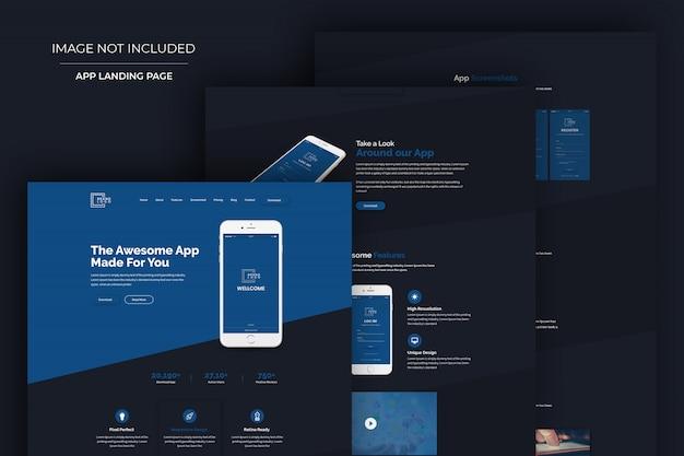 Modèle psd de conception de site web moderne