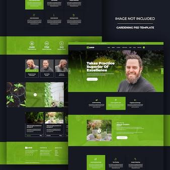 Modèle psd de conception de site web