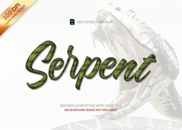 Modèle psd d'effet de texte de motif animal de peau rayée de serpent.