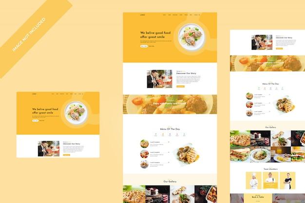 Modèle psd de nourriture et de recette