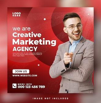 Modèle de publication d'agence de marketing sur les réseaux sociaux
