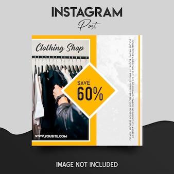 Modèle de publication de boutique instagram