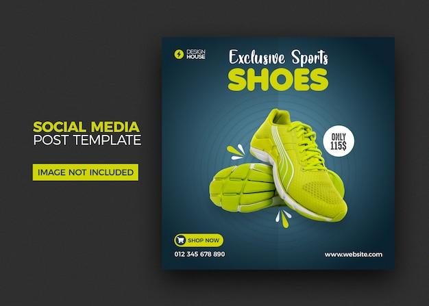 Modèle de publication de chaussures de médias sociaux instagram