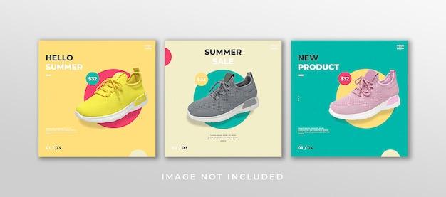 Modèle de publication de chaussures sur les réseaux sociaux