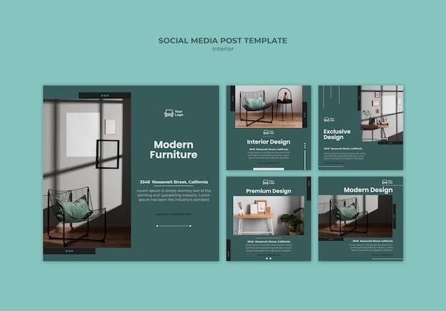 Modèle de publication de concept de meubles sur les réseaux sociaux