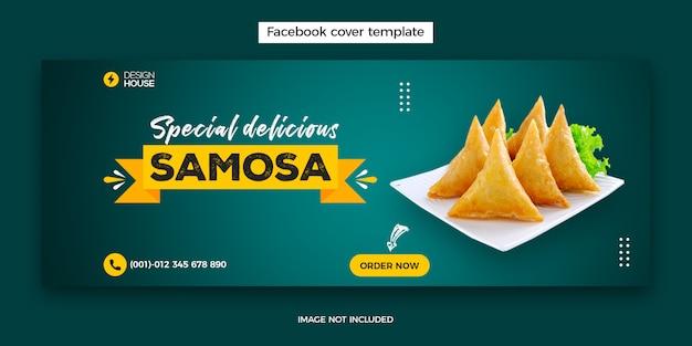 Modèle de publication de la couverture du menu alimentaire et du restaurant facebook