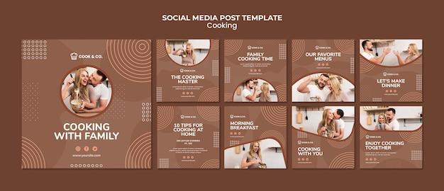 Modèle de publication de cuisine à la maison sur les médias sociaux