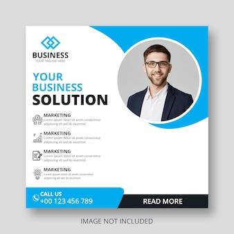 Modèle de publication ou de flyer instagram pour les services aux entreprises