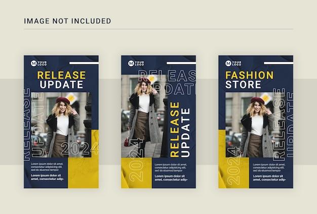 Modèle de publication d'histoires instagram de mode