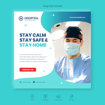 Modèle de publication instagram de bannière de santé médicale