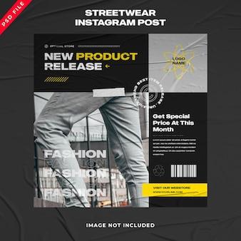 Modèle de publication instagram de bannière streetwear de mode urbaine
