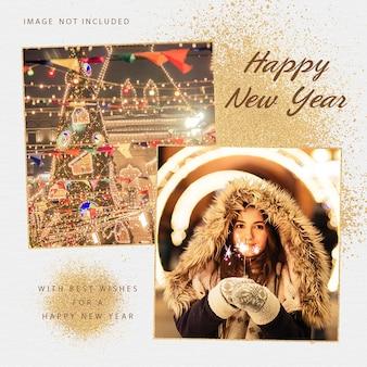 Modèle de publication instagram de bonne année