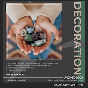 Modèle de publication instagram avec concept de décoration