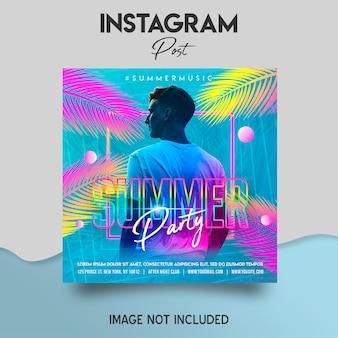 Modèle de publication instagram de fête d'été