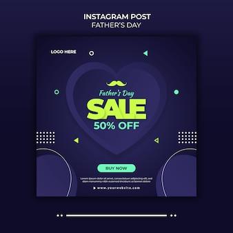 Modèle de publication instagram de la fête des pères