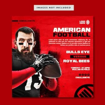 Modèle de publication instagram de football américain