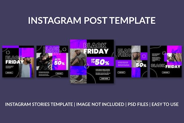 Modèle de publication instagram hype black friday