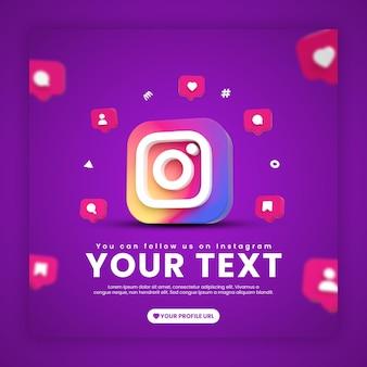 Modèle de publication instagram avec des icônes