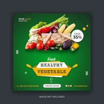 Modèle de publication instagram de médias sociaux alimentaires